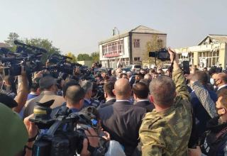 Assistant to Azerbaijani President arrives in Barda, Tartar together with diplomatic corps (PHOTO)