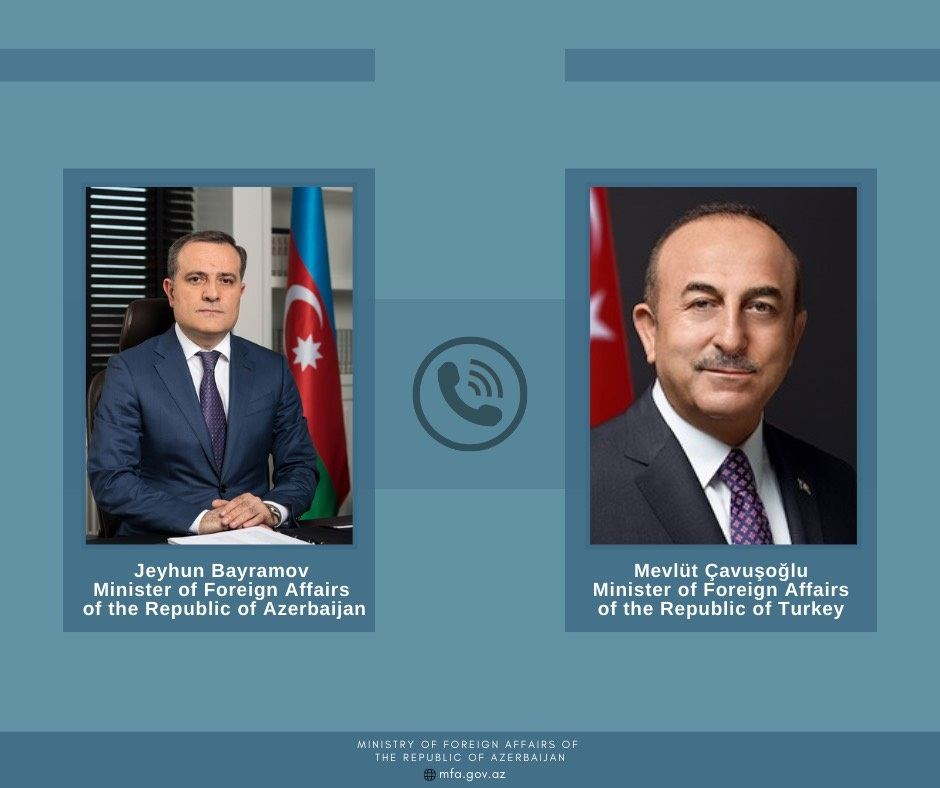 Azerbaijani, Turkish FMs exchange views on current situation within Karabakh conflict