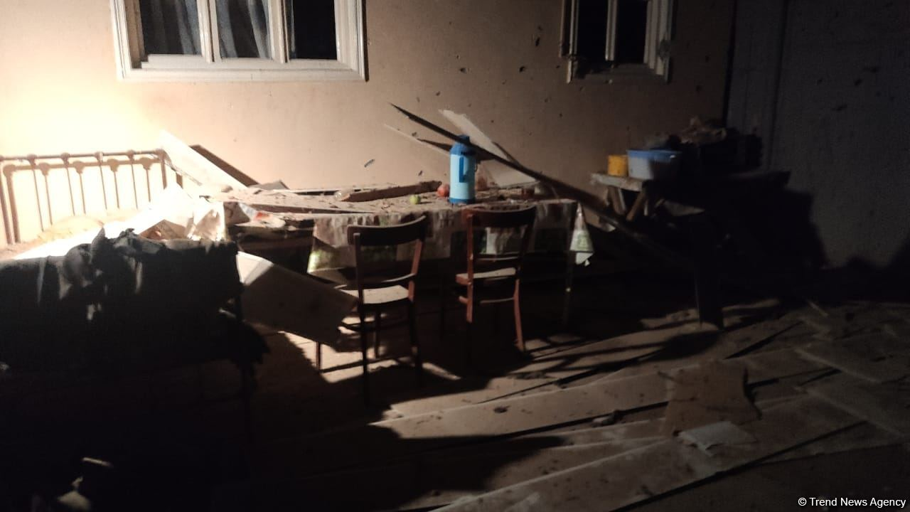 Footage of destroyed house due to Armenia's missile strike on Goranboy (PHOTO) - Gallery Image
