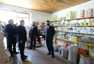 Missile attacks on Barda by Armenian Armed Forces heavily damage local business entities (PHOTO)
