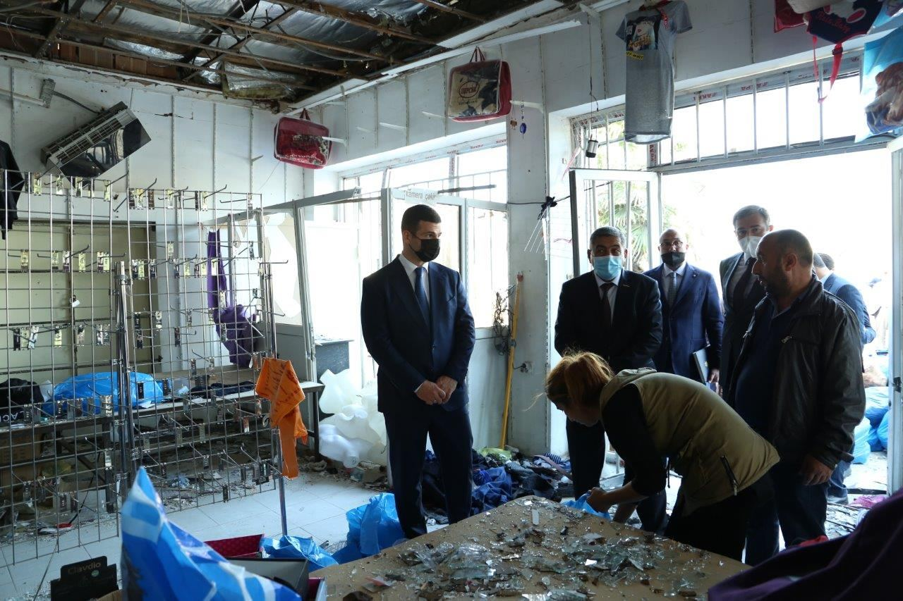 Missile attacks on Barda by Armenian Armed Forces heavily damage local business entities (PHOTO) - Gallery Image