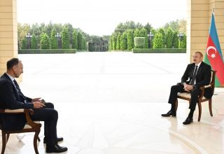 President Ilham Aliyev interviewed by German ARD TV channel (PHOTO)