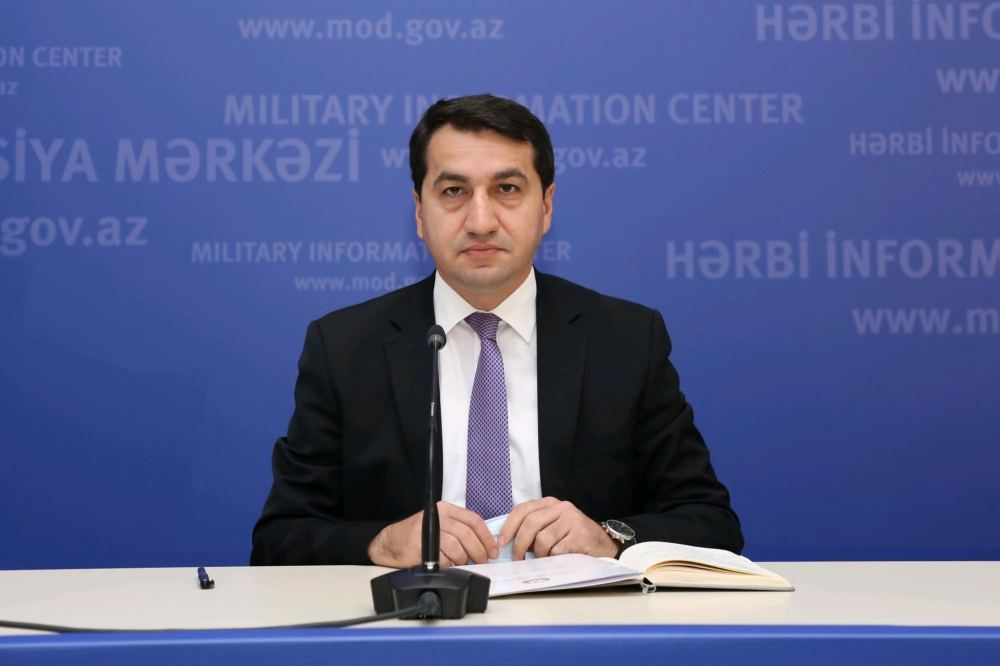 Azerbaijan only restoring its territorial integrity, top official says