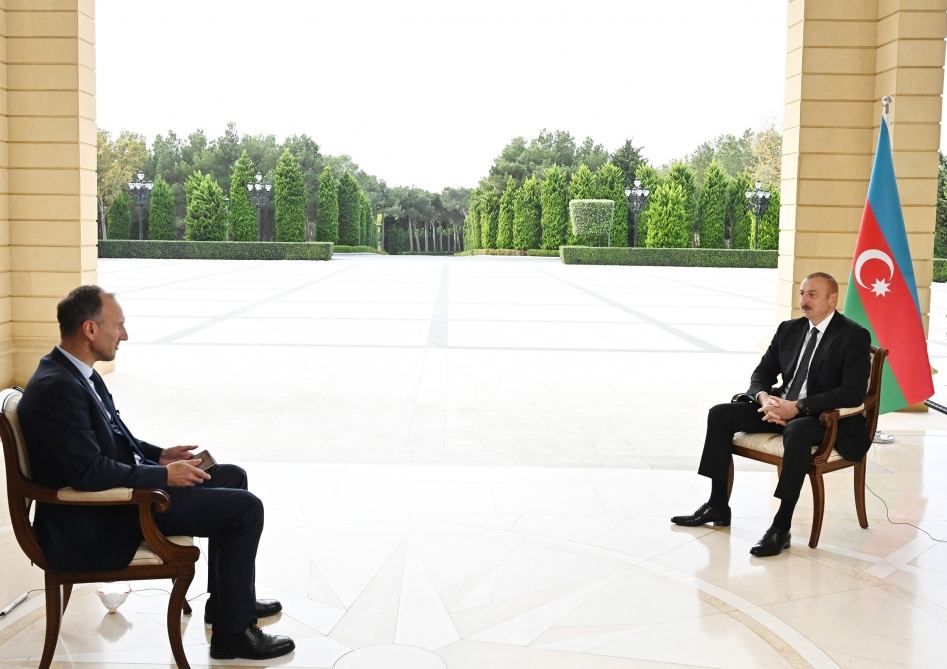 I've been asking question where has Armenia the money from to do this war for month, no answer - President Aliyev
