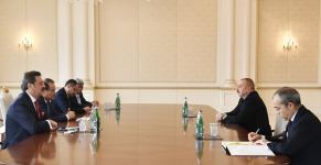President Aliyev meets SecGen of Turkic Council, president of Turkish Union of Chambers and Commodity Exchanges, president of Kyrgyz Chamber of Commerce and Industry (PHOTO) - Gallery Thumbnail