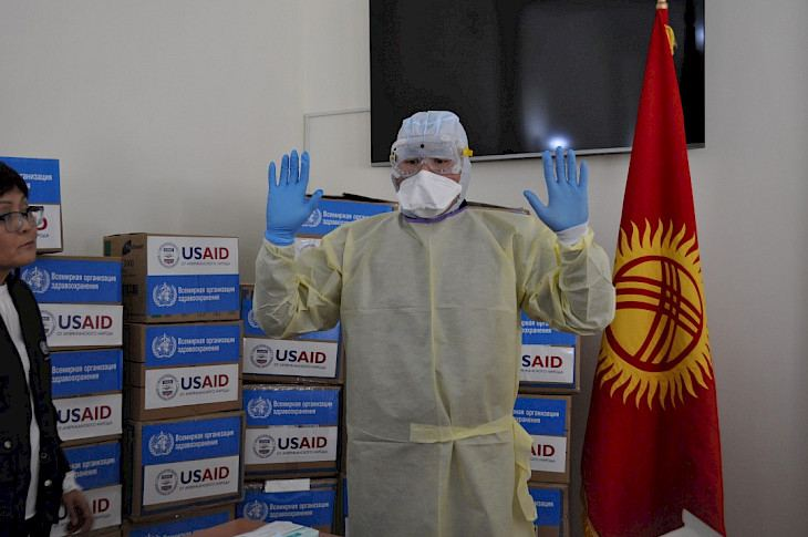 Kyrgyz health care workers receive equipment for COVID-19 response - U.S. Embassy