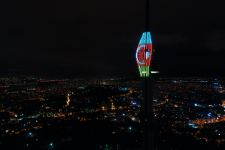 Istanbul illuminates Camlica Tower with colors of Azerbaijan's and Turkey's flags (PHOTO/VIDEO) - Gallery Thumbnail