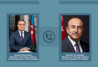 Phone talk held between Azerbaijani, Turkish FMs