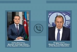 Azerbaijani, Russian FMs hold telephone conversation