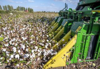 Cotton combines of new generation tested in Azerbaijan's Goranboy