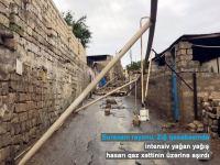 Suraxanıda hasar aşdı, qaz xətti zədələndi (FOTO) - Gallery Thumbnail