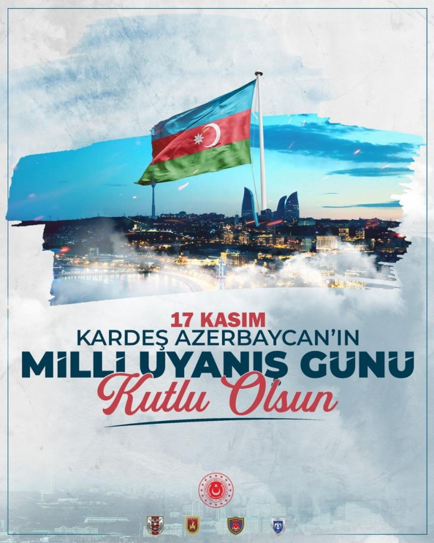Turkish Defense Ministry congratulates Azerbaijan on National Revival Day - Gallery Image