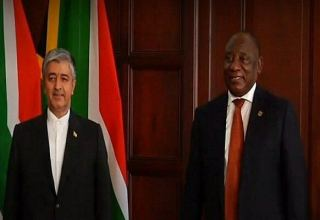 Iran's new amb. submits credentials to South Africa President
