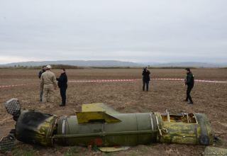 Journalists in liberated Fuzuli shown 'Tochka-U' missile wreckage - results of Armenian attacks (PHOTO/VIDEO)