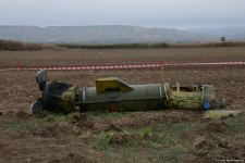 Journalists in liberated Fuzuli shown 'Tochka-U' missile wreckage - results of Armenian attacks (PHOTO/VIDEO) - Gallery Thumbnail