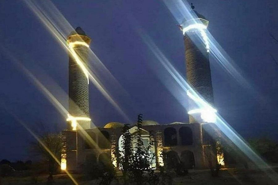 Azerbaijan supplies electricity to mosque in liberated Aghdam