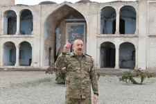 President Ilham Aliyev and first lady Mehriban Aliyeva visit liberated from occupation Aghdam city (PHOTO) - Gallery Thumbnail