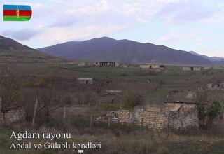 Azerbaijan shows footage from Abdal, Gulabli villages of Aghdam district (VIDEO)