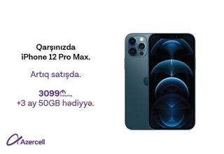 iPhone 12 Pro Max and iPhone 12 Mini now at Azercell Exclusive shops!