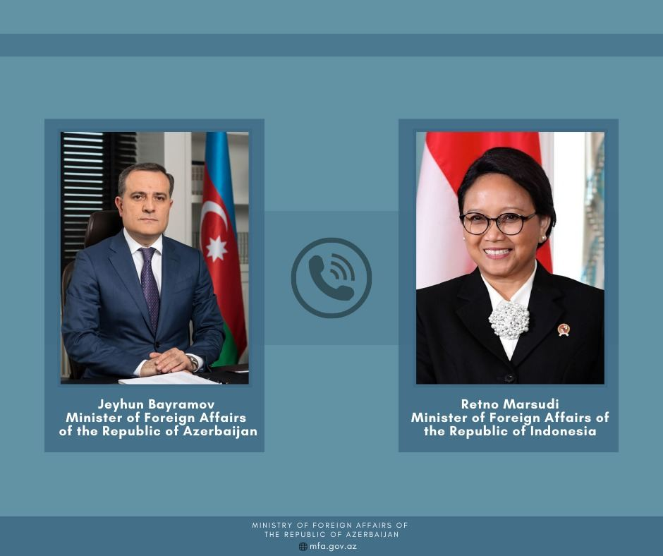 Azerbaijani, Indonesian FMs stress importance of trilateral ceasefire statement
