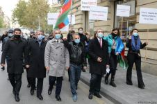 Protesters give statement in front of French embassy in Baku (PHOTO/VIDEO) - Gallery Thumbnail