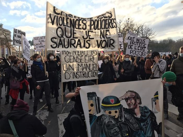 Police fire tear gas at Paris protest against police violence