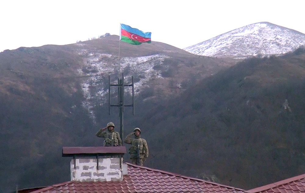Azerbaijani flag raised in liberated Kalbajar city after 27 years (VIDEO)