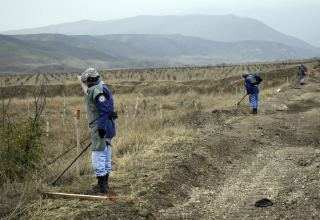 Azerbaijan's ANAMA continues demining road to liberated Sugovushan settlement (PHOTOS)
