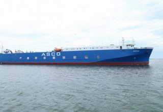 Azerbaijani 'Barda' ferry ship repaired and put into operation