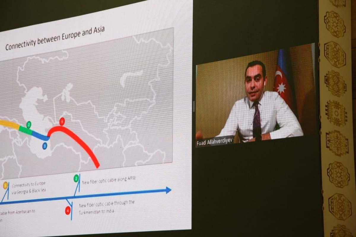 """AzerTelecom's digital infrastructure project along bottom of Caspian Sea discussed at """"Turkmentel 2020"""" conference (PHOTO) - Gallery Image"""