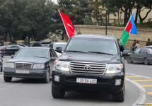 Festive procession in Baku in connection with liberation of Azerbaijan's Lachin district (PHOTO) - Gallery Thumbnail