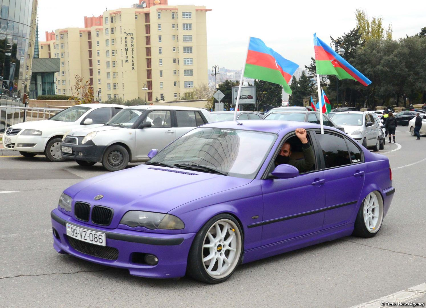 Festive procession in Baku in connection with liberation of Azerbaijan's Lachin district (PHOTO)