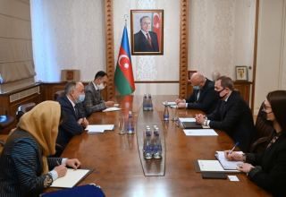 Azerbaijani FM meets newly appointed Afghan ambassador (PHOTO)