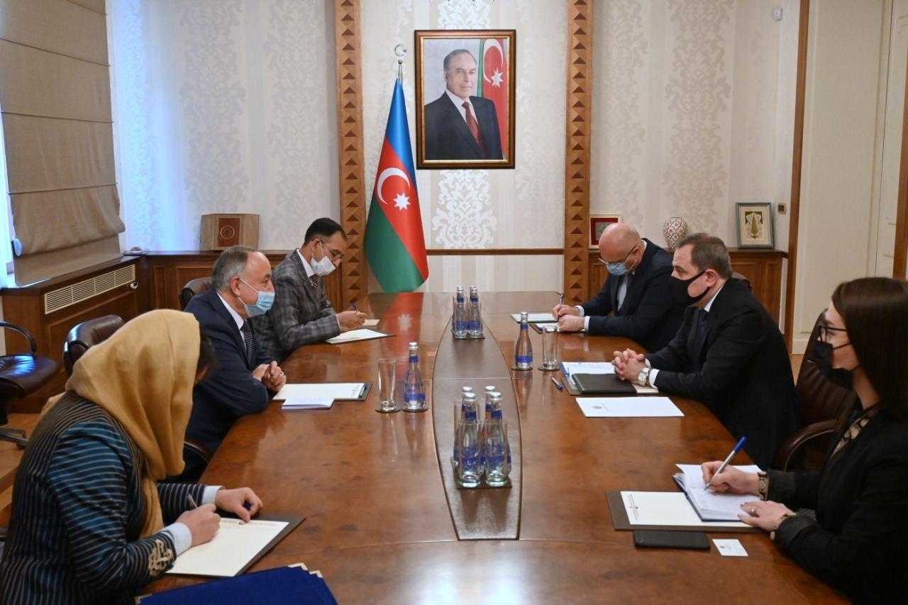 Azerbaijani FM meets newly appointed Afghan ambassador (PHOTO)