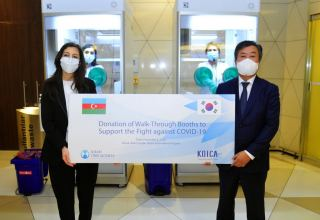Korean government donates glove boxes to Azerbaijan for COVID-19 examination (PHOTO)