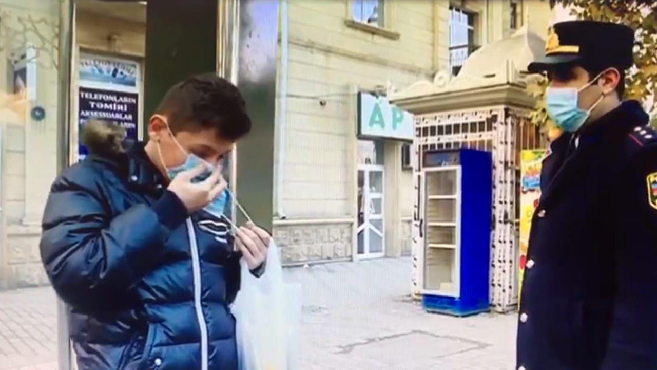 Gəncədə polis koronavirusla mübarizə tədbirlərini gücləndirdi (FOTO)