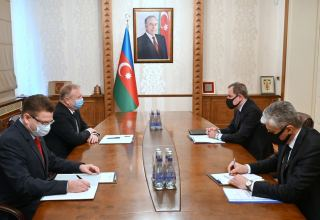 Azerbaijani FM receives Belarusian ambassador amid completion of his diplomatic mission (PHOTO)