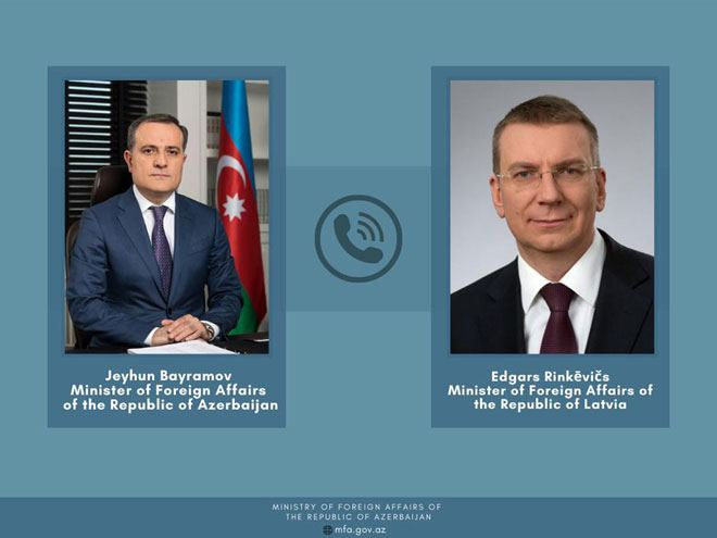 Azerbaijani, Latvian FMs exchange views on current situation in region