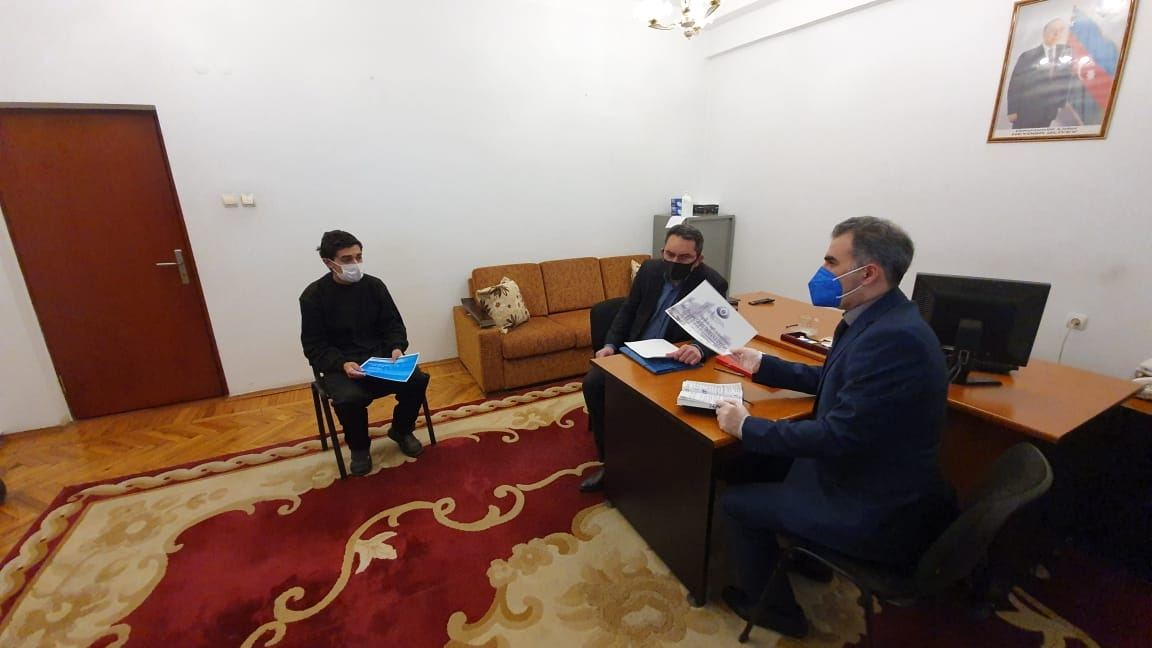 Employees of Azerbaijan's Ombudsman Office visit Armenian captives and hostages