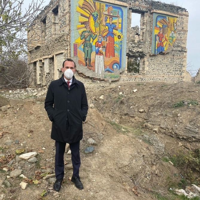 """Azerbaijan's Aghdam now known as """"ghost town"""" – Italian official (PHOTO) - Gallery Image"""