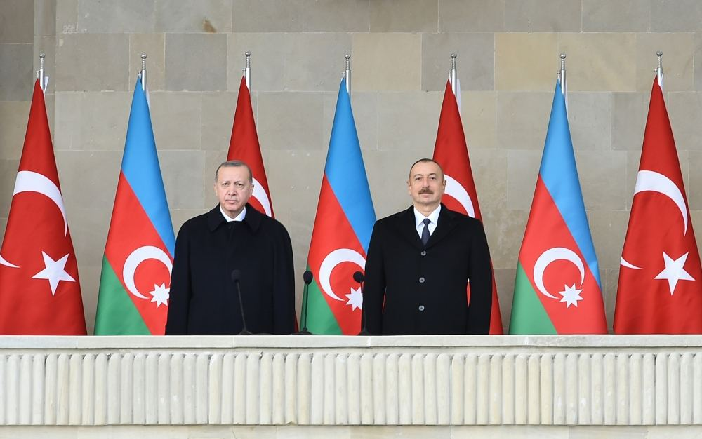 Azerbaijan holds military parade dedicated to victory in Patriotic War with participation of Azerbaijani, Turkish presidents (PHOTO)