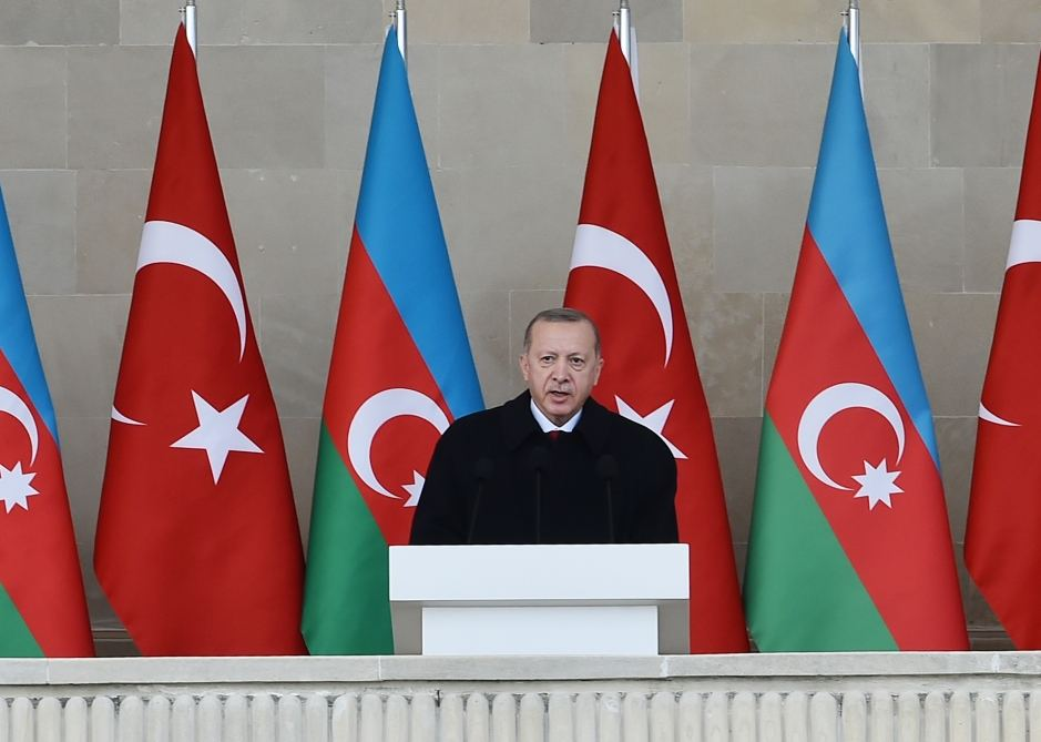 Turkish president believes Azerbaijan under leadership of President Aliyev to continue to write history