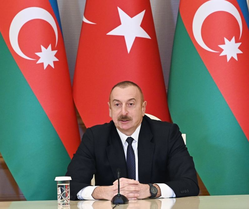 """Famous """"Bayraktar"""", product of Turkish defense industry, played exceptional role in our success - President of Azerbaijan"""