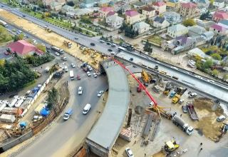 Construction work of new road junction in entrance-exit of Baku nearing completion (PHOTO/VIDEO)
