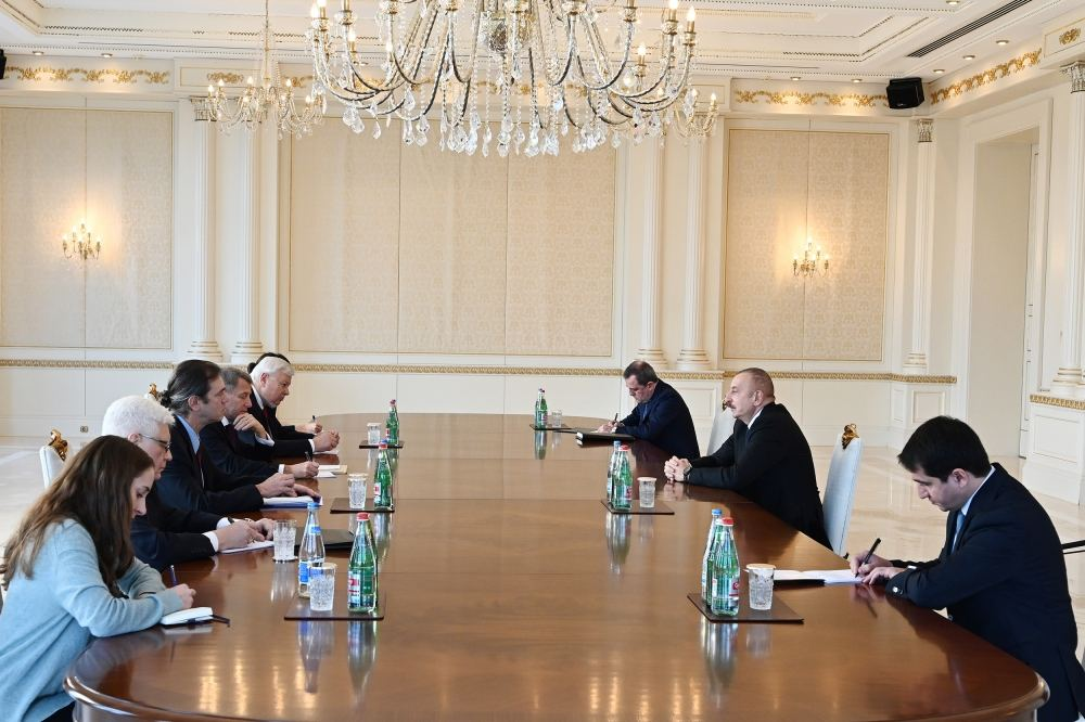 President Ilham Aliyev receives OSCE Minsk Group co-chairs from France and US (PHOTO) - Gallery Image