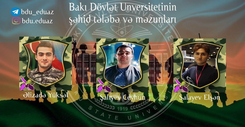 Студенты и выпускники БГУ, ставшие шехидами в Отечественной войне Азербайджана (ФОТО) - Gallery Image