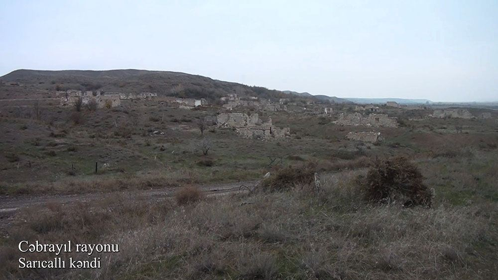 Azerbaijan's MoD presents video report from liberated Jabrayil district's Saryjaly village (VIDEO)