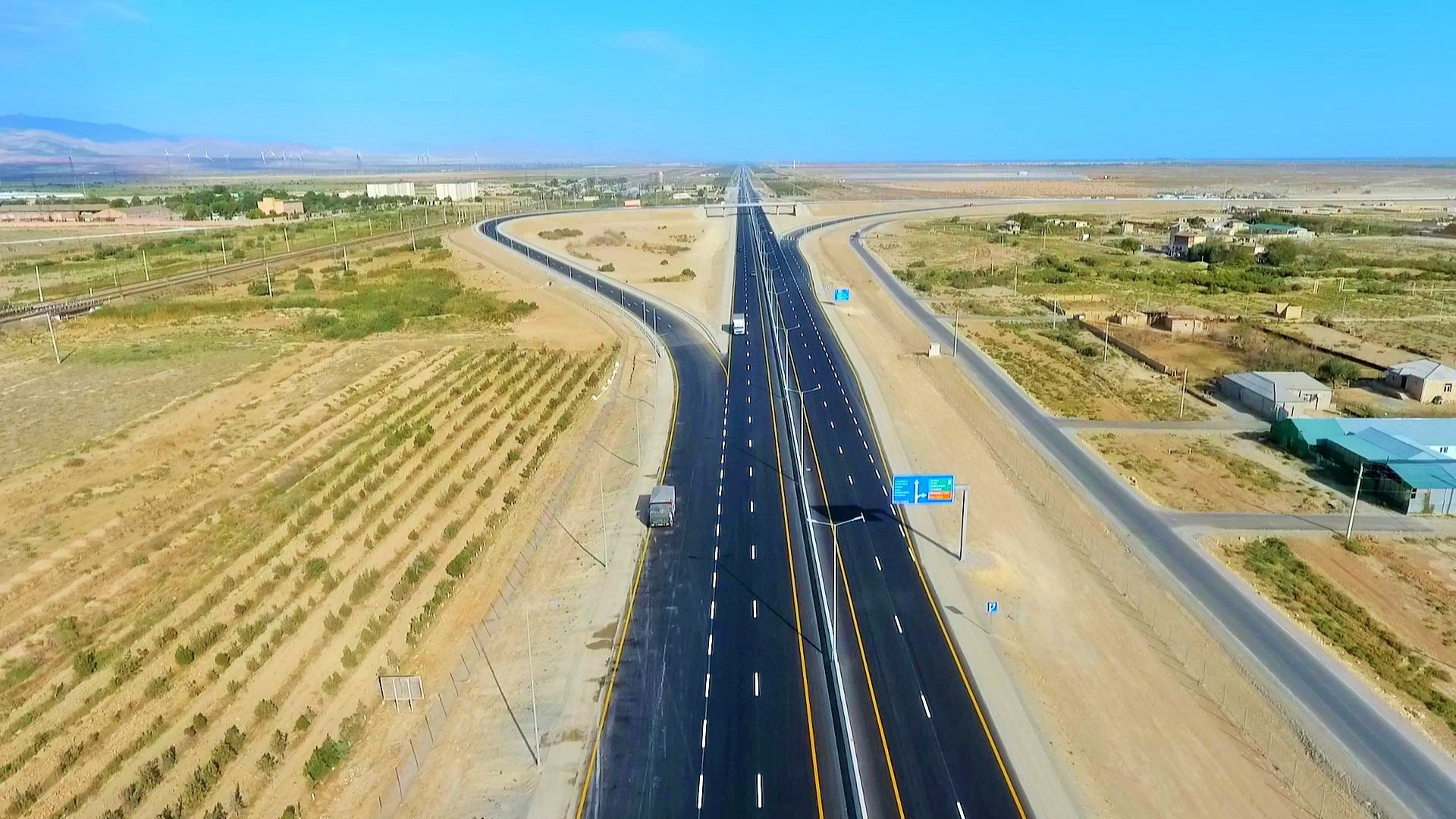Construction of first section of Baku-Guba-Russia toll highway completed (PHOTO/VIDEO) - Gallery Image