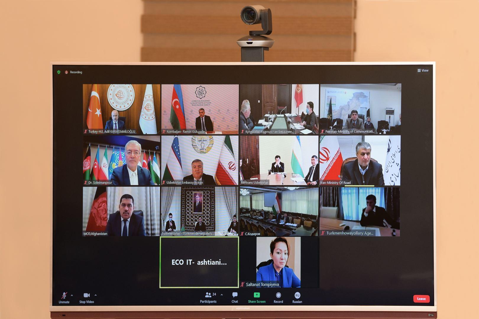 Министр транспорта Азербайджана сделал ряд заявлений на встрече ОЭС (ФОТО) - Gallery Image