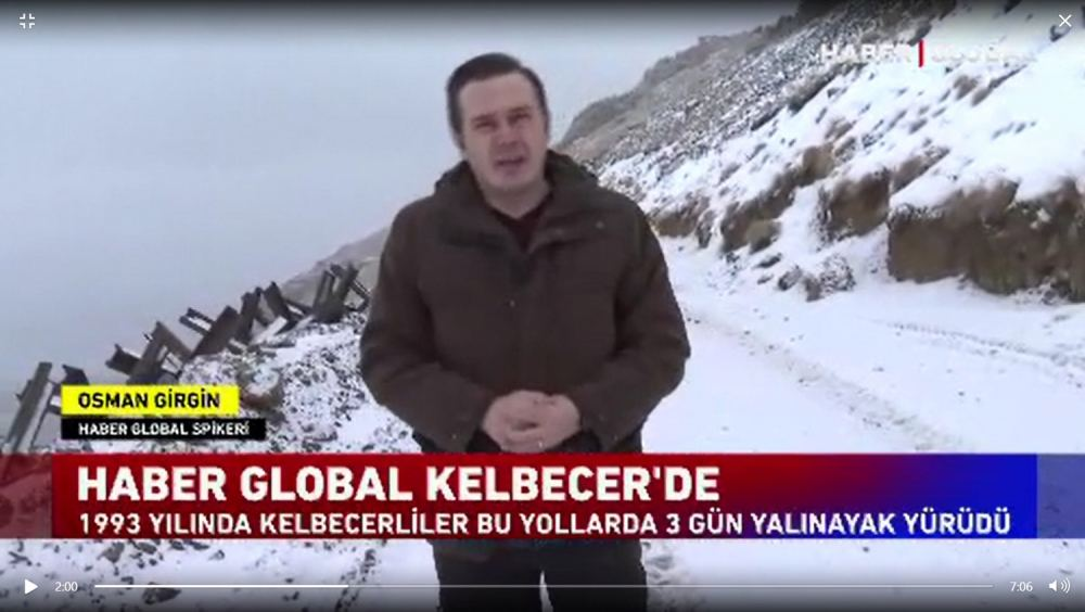 Turkish Haber Global TV shows video report from Azerbaijan's liberated Kalbajar (PHOTO/VIDEO)